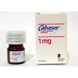 Cabaser 1mg Cabergoline (Dostinex)  20 Tablets (1mg/tab)